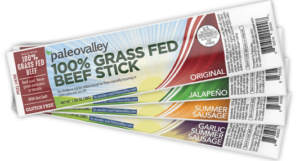 PaleoValley Grass Fed Beef Sticks provide all the nutrition of a paleo diet and provides the body with health