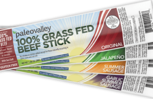 PaleoValley Grass Fed Beef Sticks are a nutritious paleo snack that provides all the paleo benefits