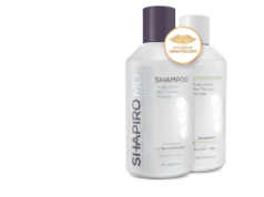 Shapiro MD Hair Regrowth prevents hair loss and restores growth by blocking DHT and nourishing the hair follicles