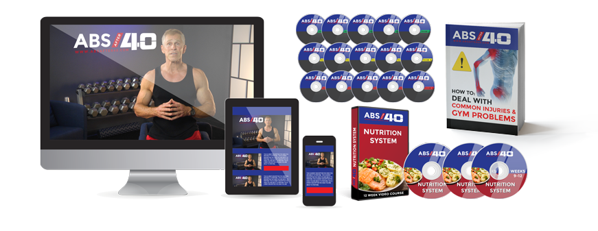 Abs after 40 is an exclusive program for men over 40 that allows them to get back in shape and live a healthy life