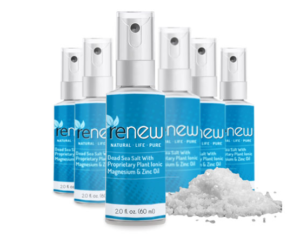 Renew Magnesium Spray is a transdermal formulation that goes into the bloodstream and supplies magnesium to the body