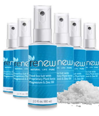 Renew Magnesium Spray can be used anywhere on the body as it absorbs quickly providing it with the supply of magnesium