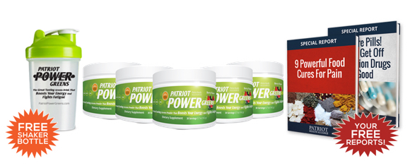 Patriot Power Greens come with bonus materials including helpful guides and shaker bottle