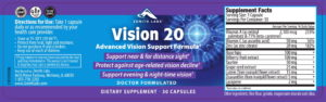 Vision 20 is made up of 10 powerful, and potent ingredients that help in rescuing the ailing eye sight