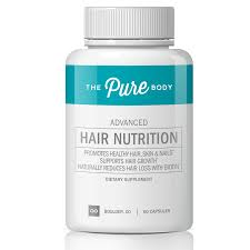Pure Body Advanced Hair Nutrition is a hair supplement that promotes healthy, long, and luscious hair