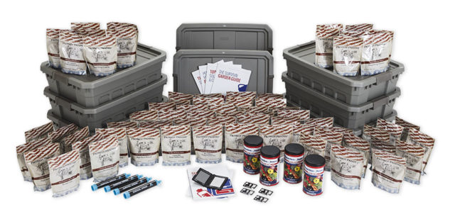 Food4Patriots are highly nutritious food kits that are safely packed in a water proof tote bags