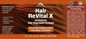 Hair Revital X comes in a topical solution that is massaged on to the scalp daily
