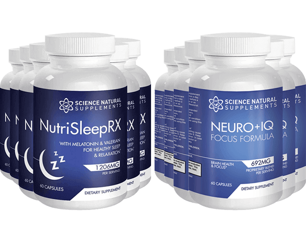 NutriSleepRX and Neuro+IQ is a dietary supplement that helps in improving sleep, focus, and cognition