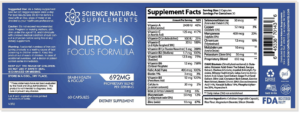 Neuro+IQ contains all natural and potent ingredients that deliver real time results