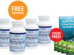 Patriot Renewal is a revolutionary age reversing formula that is made up all-natural potent ingredients
