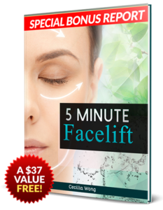 5 Minute Facelift contains tips on how to firm your skin
