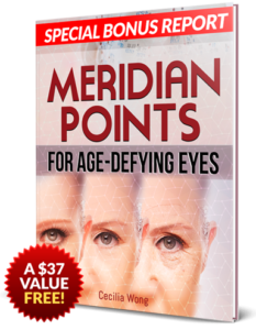 Meridian Points For Age Defying Eyes contains tips to reduce premature aging and wrinkles present under the eye area