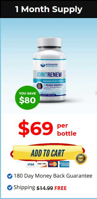 Joint Renew aims to relieve joint pain and promotes joint health