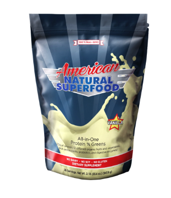 American Natural Superfood is an incredible source of daily protein and necessary greens