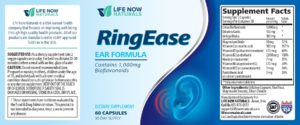 Ring Ease improves hearing and has no side effects