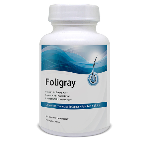 Foligray provides natural support for graying hair.