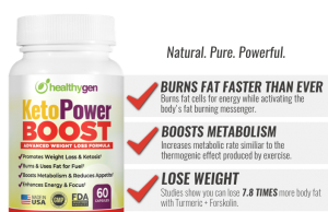 Healthygen KetoPower Boost is a ketosis supplement that helps in burning fat