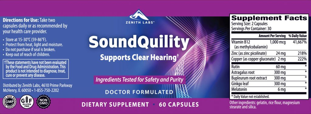 Zenith Labs SoundQuility ingredients are potent
