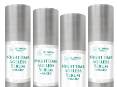 Blossom Nighttime Ageless Serum with CBD is amazing for anti anging