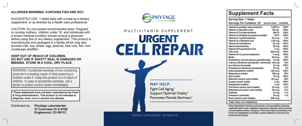 Urgent Cell Repair contains natural ingredients